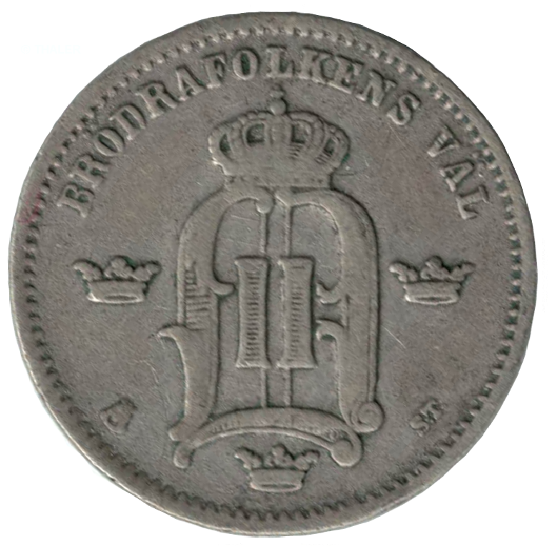 10 öre 1874 baksida