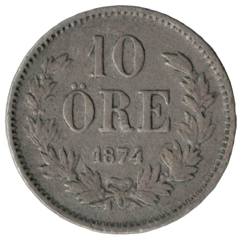 10 öre 1874