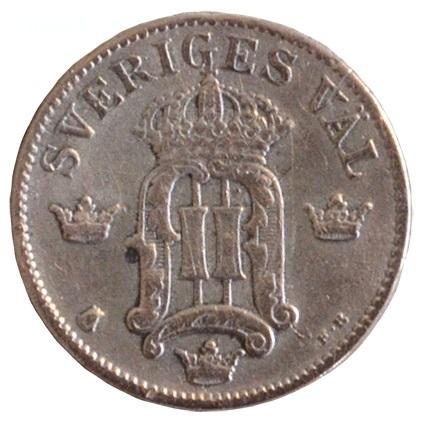 10 öre 1907 baksida
