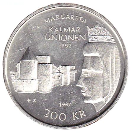 600-årsminnet av Kalmarunionen myntets baksida