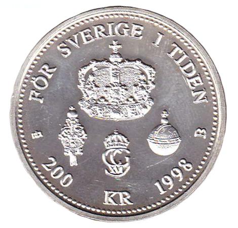 Carl XVI Gustaf - Sveriges Konung i 25 år baksida