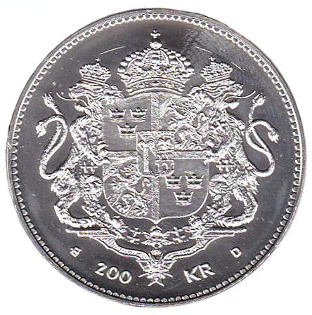 Drottning Silvia 50 år myntets baksida
