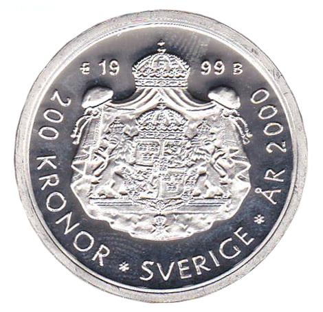 Millenniumskiftet/Kung Carl XVI Gustaf och kronprinsessan Victoria baksidan