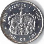 200-kr-1993-Sveriges-Konung-i-20-ar-fransida-150x150