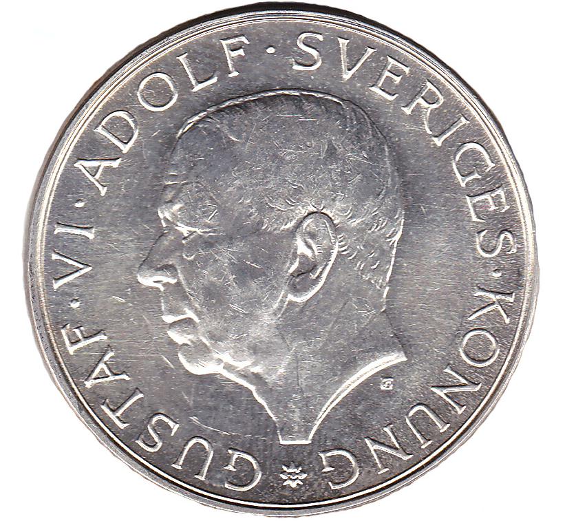 10 kr Gustav VI Adolf 90 år 1972