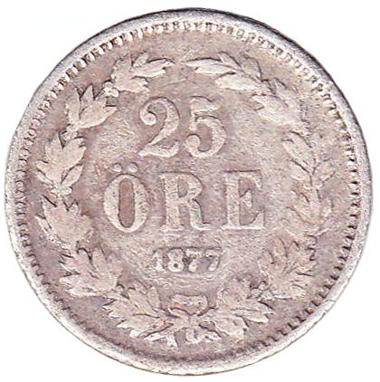 25 öre 1874-1878